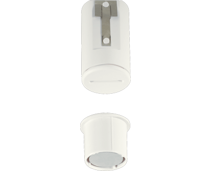 recessed door sensor for home security alarms